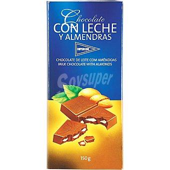 HIPERCOR chocolate con leche y almendras tableta 150 g