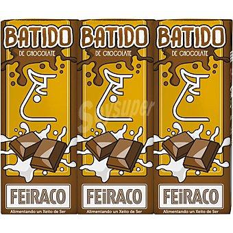 Feiraco Batido de chocolate pack 3 envases 200 ml