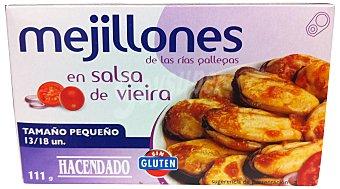 Hacendado Mejillon salsa vieira 13/18 pequeños Lata 111 g