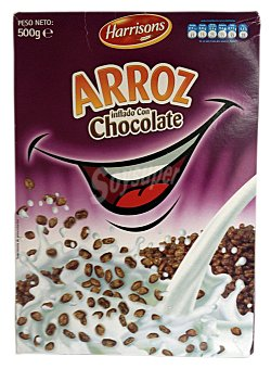 Harrisons Cereal arroz inflado chocolate Caja 500 g