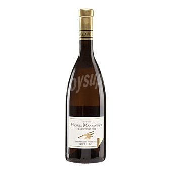 MANUEL MANZANEQUE Vino Chardonay fermentado en barrica blanco D.O. Finca Elez 75 cl