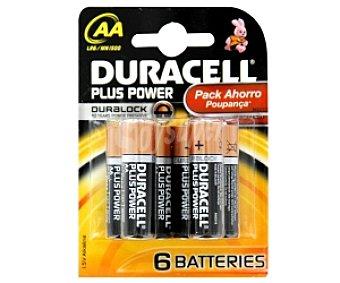 DURACELL Plus Power Pilas alcalinas AA LR6 1,5V 6u
