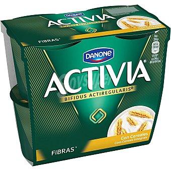Activia Danone Yogur con cereales fibre Pack 4 unidades 120 gr