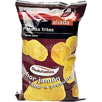Aliada Patatas fritas onduladas sabor a jamón Bolsa 160 g