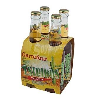 Carrefour Cerveza con tequila Pack 4x33 cl