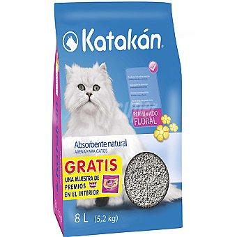 KATAKÁN Arena para gatos perfumada floral Paquete 8 l