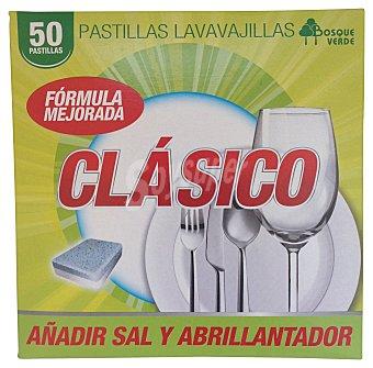 BOSQUE VERDE Detergente lavavajillas pastillas clásico Caja 50 u
