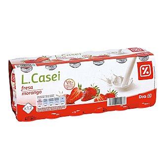 DIA LIFEFORM Yogur líquido fresa pack 12 unidades 100 g Pack 12 unidades 100 g
