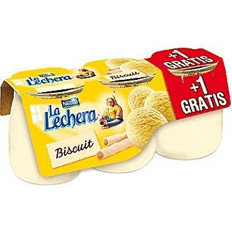La Lechera Nestlé biscuit envase 135 g + 1 gratis pack 2 unidades