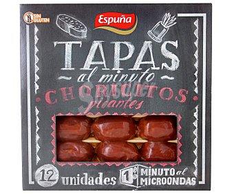 Espuña Choricitos Picantes Bandeja 12 unidades 80 gramos