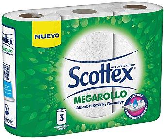 Scottex Papel de cocina Megarollo Pack 3 uds