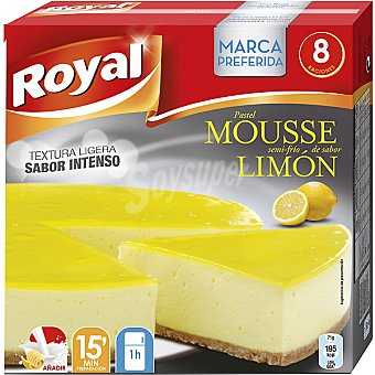 Royal Pastel mousse sabor limón para preparar 8 raciones Estuche 207 g
