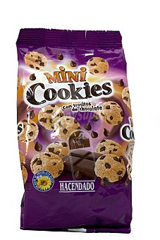 Hacendado Galleta trozos chocolate mini cookies Paquete 100 g