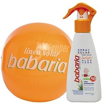 Babaria solar infantil aloe vera FP-50 + regalo balón playa frasco 200 ml