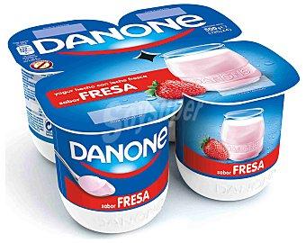 Danone Yogur sabor fresa Pack 4 x 125 g