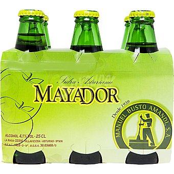 MAYADOR Sidra asturiana refrescante  Pack de 6x25 cl