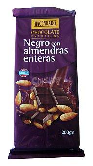 Hacendado Chocolate extrafino negro con almendras enteras Tableta 200 g