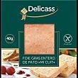 foie gras de pato mi cuit  envase 40 g Delicass