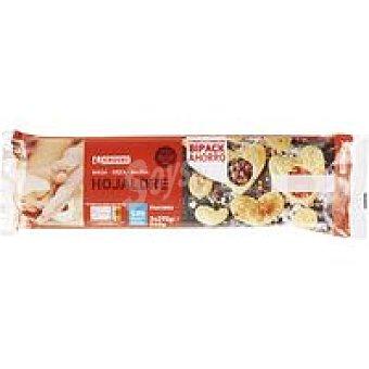 Eroski Masa de hojaldre bipack menos sal Pack 2x270 g