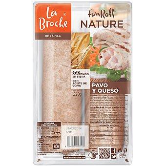 LA BROCHE Fun Roll nature flautas de pavo y queso 2 unidades envase 220 g 2 unidades
