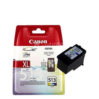 Canon Cartucho Color CL-513XL - Compatible con Impresoras: pixma-mp 240 / 260 / 480 alta capacidad