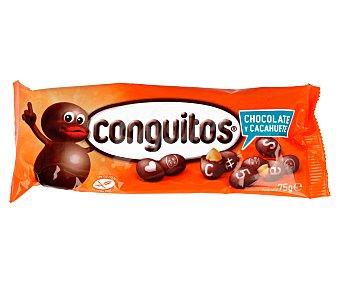 Conguitos Lacasa Cacahuete cubierto de chocolate negro 75 g