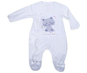In Extenso Pijama pelele de bebe aterciopelado, color crudo, talla 86