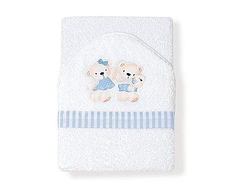 MORA FERRE Capa de baño maxi para bebé, color azul, conejo