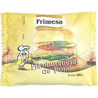 FRIMESA Hamburguesas de pollo bolsa 160 g 2 unidades