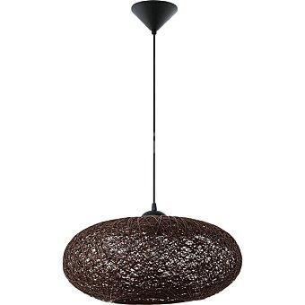EGLO Campilo Lámpara colgante de 1 luz en color negro y marrón