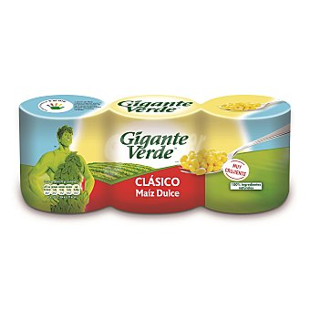 Gigante Verde Maíz dulce original Pack de 3X140 g