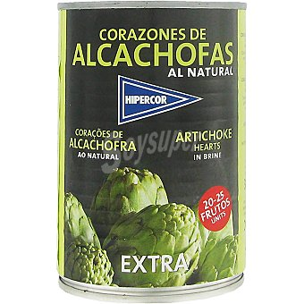 Hipercor Corazones de alcachofa 20-25 piezas Lata 240 g neto escurrido