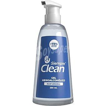 Siempre Gel hidroalcohólico higienizante 73% de alcohol olor original clean Dosificador 250 ml
