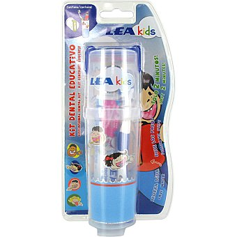 Lea kit dental educativo con pasta dentífrica + cepillo dental + vaso con reloj de arena blister 1 unidad