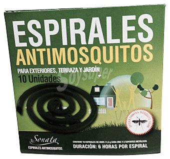 Sonata Insecticida espiral antimosquito Paquete de 10 unidades