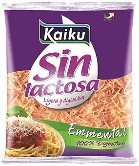 Kaiku Queso rallado Emmental sin lactosa Bolsa 100 g