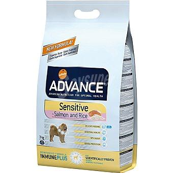 Advance Affinity Alimento de alta gama para perros adultos de todas las razas rico en salmón y arroz Sensitive Bolsa 3 kg