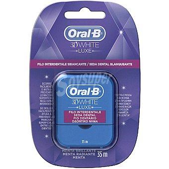 ORAL B 3D White Luxe Seda dental blanqueante blister 35 m menta brillante caja 35 m