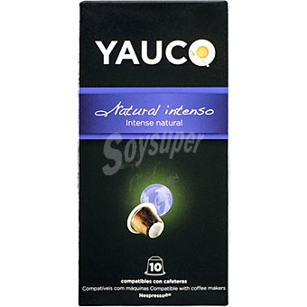 YAUCO Café natural intenso ápsulas compatible con máquinas Nespresso estuche 50 g 10 c