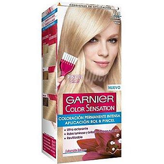 Color Sensation Garnier Tinte ultra rubio sedoso belga nº 113 coloración permanente intensa caja 1 unidad pincel gratis Caja 1 unidad