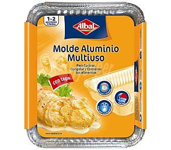 Albal Molde de aluminio multiuso con tapa 22x17 cm Pack 3 unid