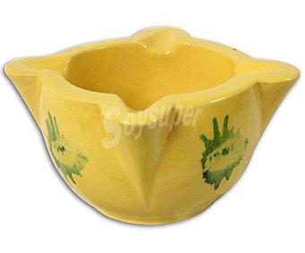 ROSLAR Mortero número 3 de color amarillo con motivos verdes 1 Unidad