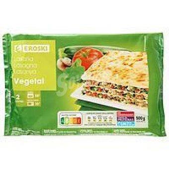 Eroski Lasaña vegetal Bandeja 500 g