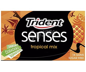 Trident Chicles sabor tropical 27 Gramos