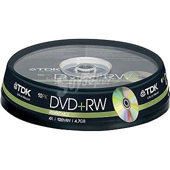 TDK Tarrina de 10 Dvd+rw regrabables de 4,7 GB 4x 120 mit