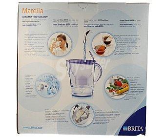 Brita Jarra purificante modelo Marella, color lila, lavanda, 2,4 litros de capacidad, incluye 2 filtros Maxtra (30días-150litros/filtro) 1 unidad