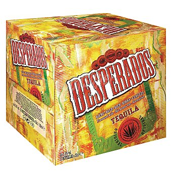 Desperados Cerveza Desperados con tequila Pack de 12 botellas de 25 cl