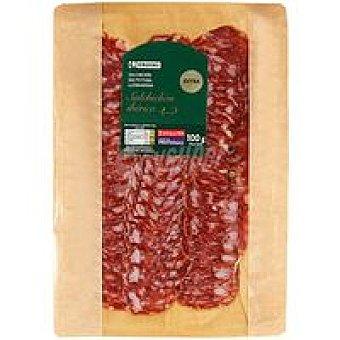 EROSKI Ibéricos Salchichón cular ibérico Sobre 100 g