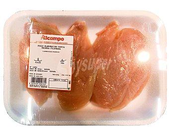Bandeja de pecuha de pollo fileteada 350 gramos aproximados