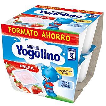 Yogolino Nestlé Postre lácteo fresa desde 8 meses sin gluten sin aceite de palma pack de 8 undidades de 100 G Pack 8 x 100 g
